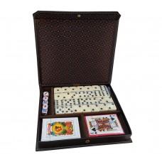 Caja De Juegos Dominó En Caja Forrada Simil 360 G