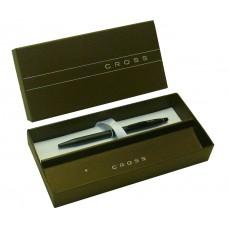 Bolígrafo Click Cross negra Cod. Ato 625-2 de cuerpo fino negro mate