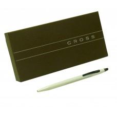 Bolígrafo Click Cross blanca Cod. Ato 625-3 de cuerpo fino blanco perlado
