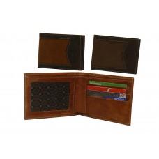 Billetera de cuero combinada para hombre cod. 731 Cp