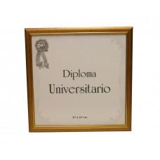 Marco para diploma universitario Udelar137 patinado dorado