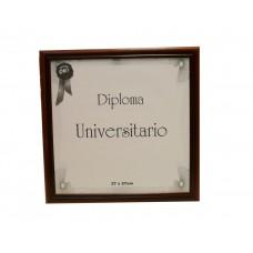 Marco para diploma universitario  Udelar137 patinado marrón