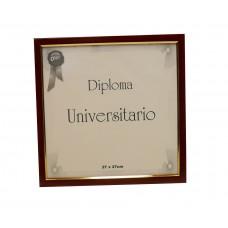 Marco para diploma universitario Udelar170 laca bordó