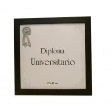 Marco para diploma universitario Udelar moldura 10 marrón