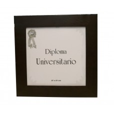 Marco para diploma universitario moldura 8 marrón